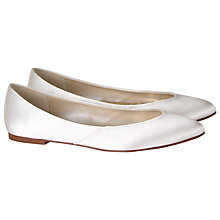 Buy Rainbow Club Carmel Satin Pump, Ivory Online at johnlewis.com