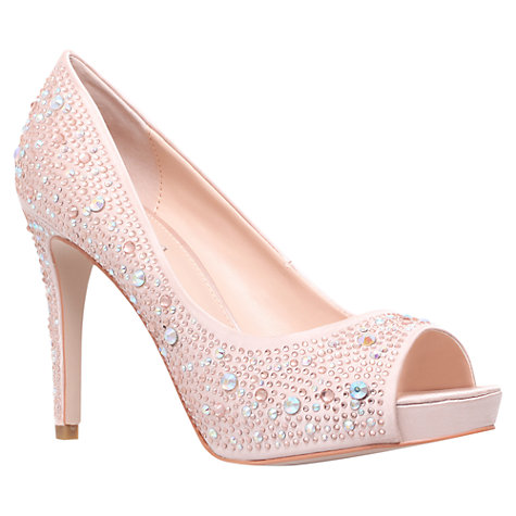 Buy Carvela Grin Court Shoes, Pale Pink Online at johnlewis.com