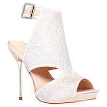 Buy Carvela Glory Cut-Out Diamante Stiletto Sandals, Cream Online at johnlewis.com