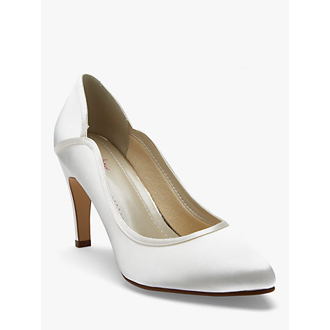 Buy Rainbow Club Lucy Satin Court Shoes, Ivory Online at johnlewis.com