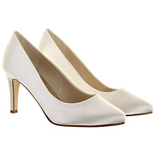 Buy Rainbow Club Kaitlyn Round Toe Satin Court Shoes, Ivory Online at johnlewis.com