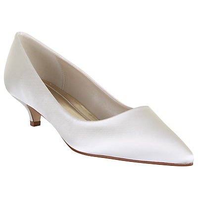 Rainbow Club April Satin Court Shoes, Ivory