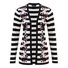 Buy Viyella Floral Stripe Open Cardigan, Navy Online at johnlewis.com