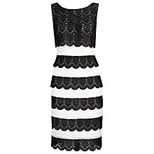 Buy Alexon Lace Layer Dress, Black Online at johnlewis.com