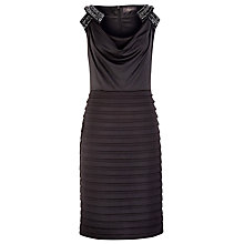 Buy Alexon Embellished Layer Dress, Black Online at johnlewis.com