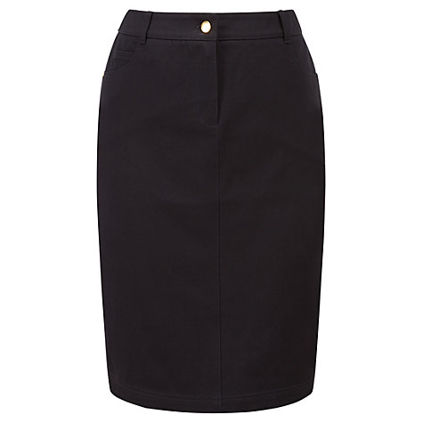 Buy Viyella Smart Jean Pencil Skirt, Navy Online at johnlewis.com