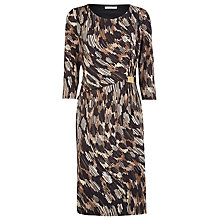 Buy Windsmoor Geo Print Jersey Dress, Black Online at johnlewis.com