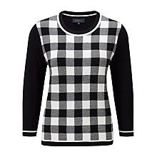 Buy Viyella Gingham Check Jumper, Navy Online at johnlewis.com