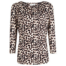 Buy Windsmoor Print Cowl Neck Top, Black Online at johnlewis.com