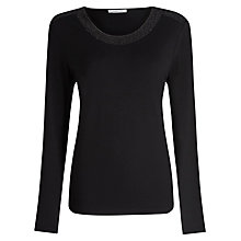 Buy Windsmoor Sparkle Jersey Top, Black Online at johnlewis.com