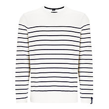 Buy Woolrich John Rich & Bros. Striped Nautical Sweatshirt, Salt Online at johnlewis.com