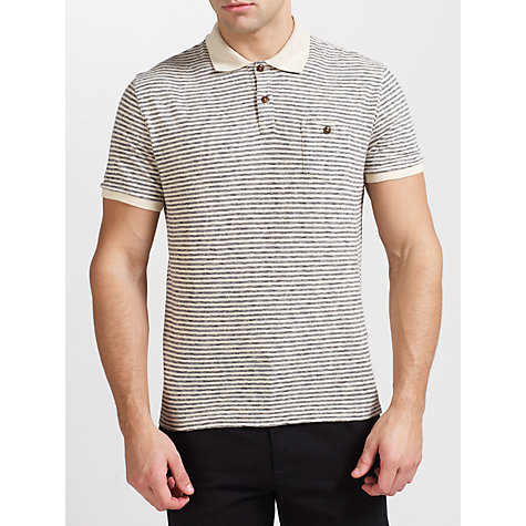 Buy Woolrich John Rich & Bros. Striped Polo Shirt, Natural Online at johnlewis.com