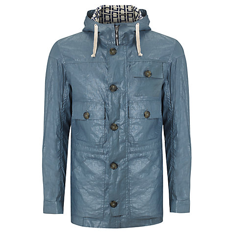 Buy Pret Pour Partir Gildas Coated Linen Jacket, Acier Blue Online at johnlewis.com