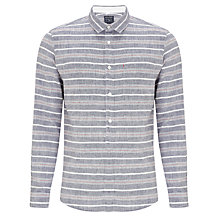 Buy Woolrich John Rich & Bros. Striped Linen Shirt, Paper Navy Online at johnlewis.com
