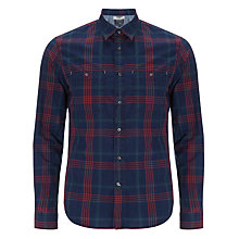 Buy Woolrich John Rich & Bros. Cotton Check Shirt, Cherry Online at johnlewis.com