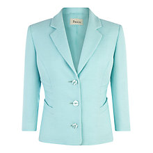 Buy Precis Petite Pintuck Detail Jacket, Blue Online at johnlewis.com