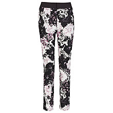 Buy Kaliko Lydia Printed Trousers, Black Online at johnlewis.com