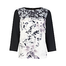 Buy Kaliko Contrast Printed Top, Multi Online at johnlewis.com