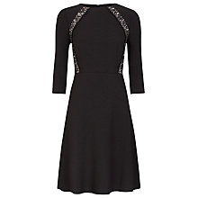 Buy Kaliko Flippy Lace Insert Dress, Black Online at johnlewis.com