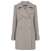 Buy Warehouse Double Breasted Reefer Coat, Mink Online at johnlewis.com