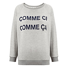 Buy Whistles Comme Ci Comme Ca Sweatshirt, Grey Online at johnlewis.com