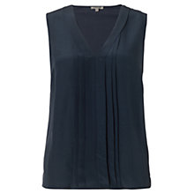 Buy Jigsaw Pleat Front Sleeveless Top Online at johnlewis.com
