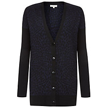 Buy Hobbs Eadie Cardigan, Navy/Black Online at johnlewis.com