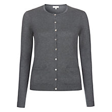 Buy Hobbs Eva Cardigan, Grey Online at johnlewis.com