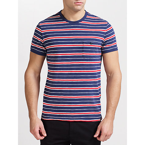 Buy Woolrich John Rich & Bros. Stripe Crew Neck T-Shirt Online at johnlewis.com