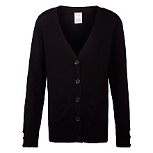 Buy John Lewis School Boyfriend Cardigan, Black Online at johnlewis.com