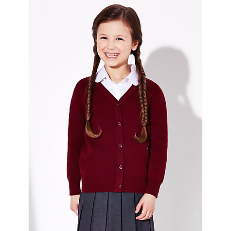 Buy John Lewis School 100% Pure Cotton V-Neck Cardigan Online at johnlewis.com