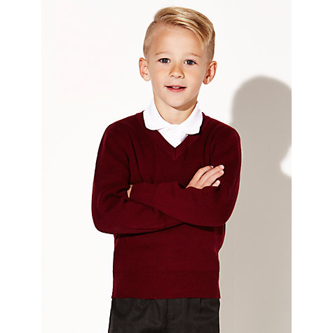 Buy John Lewis Unisex School V-Neck Jumper Online at johnlewis.com