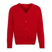 Buy John Lewis Girls' Moss Stitch Cotton Cardigan Online at johnlewis.com