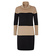 Buy Hobbs Bea Dress, Black/Almond Online at johnlewis.com