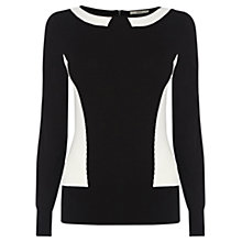 Buy Oasis Colour Block Top, Black/White Online at johnlewis.com