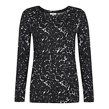Buy Hobbs Jourdon Top, Black/Ivory Online at johnlewis.com