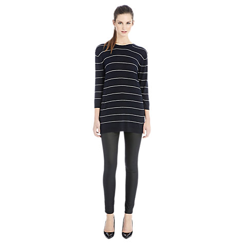 Buy Warehouse Longline Striped Jumper, Navy Online at johnlewis.com