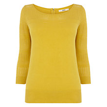 Buy Oasis Pointelle Jumper, Ochre Online at johnlewis.com