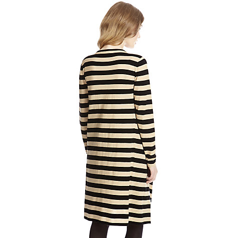 Buy Oasis Stripe Draped Cardigan, Light Neutral Online at johnlewis.com
