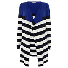 Buy Oasis Colourblock Stripe Draped Cardigan, Multi Online at johnlewis.com