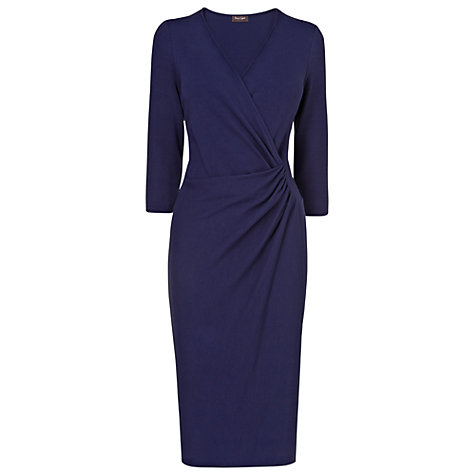 Buy Phase Eight Jerry Cross Front Dress, Navy Online at johnlewis.com