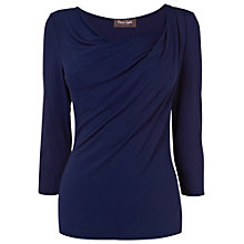Buy Phase Eight Lara Cowl Neck Top, Navy Online at johnlewis.com