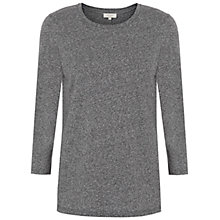 Buy Hobbs Kasia Top, Grey Melange Online at johnlewis.com