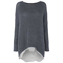 Buy Phase Eight Danni Layered Jumper, Slate Online at johnlewis.com