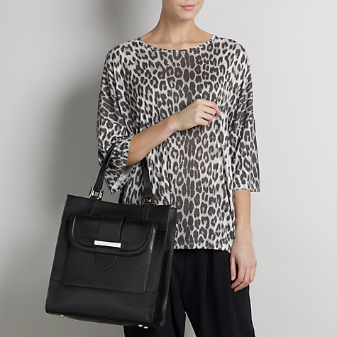 Buy Somerset by Alice Temperley Oversized Animal T-Shirt, Grey Online at johnlewis.com