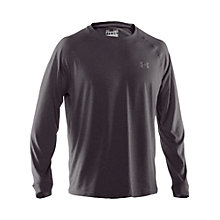 Buy Under Armour Tech Long Sleeve Top, Dark Grey Online at johnlewis.com