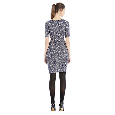 Buy Warehouse Bird Dot Print Dress, Blue Pattern Online at johnlewis.com