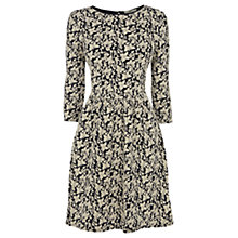 Buy Oasis Butterfly Jacquard Dress, Navy Online at johnlewis.com