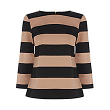 Buy Oasis Striped Blocked Top, Multi Online at johnlewis.com