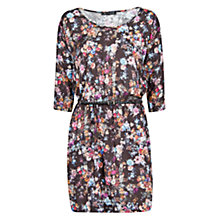 Buy Mango Floral Print Lightweight Dress, Black Online at johnlewis.com